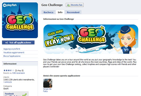 L'applicazione Geo Challenge