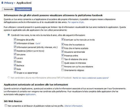 Le impostazioni di privacy di Facebook