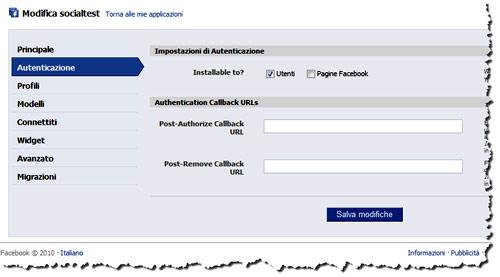 Figura 8: La scheda Autenticazione