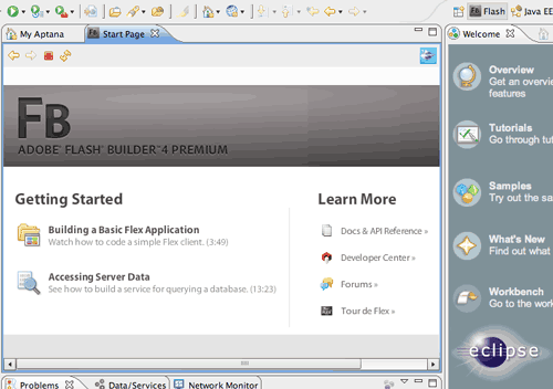 Flash Builder come prospettiva Eclipse 3.4