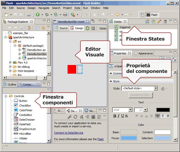 Prospettiva Flash in modalità Design