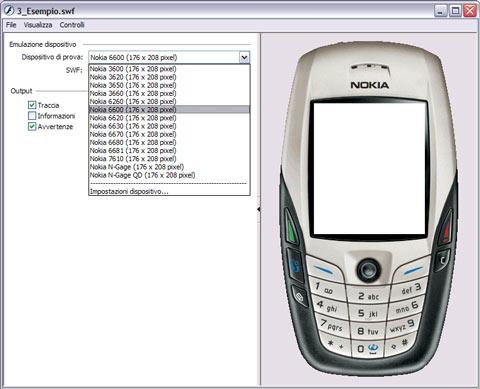 Emulatore di cellulari di Flash 8