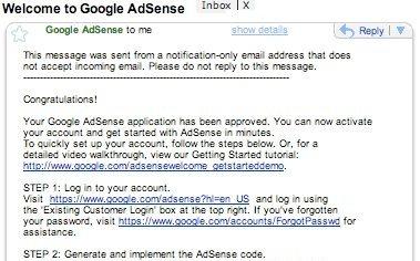 Email di conferma attivazione