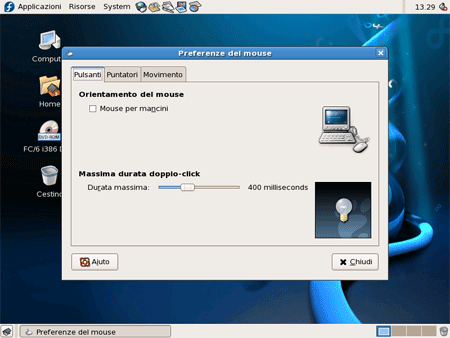 Configurazione del mouse