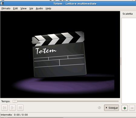 Totem, il riproduttore di file video