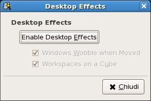 gestione degli effetti del Desktop
