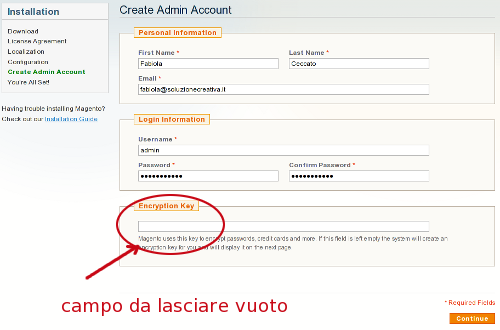 Magento creare account admin