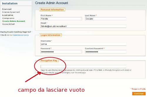 Magento creare account admin