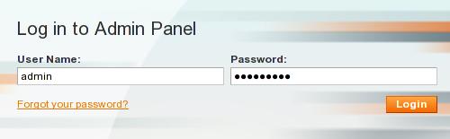Magento login admin panel