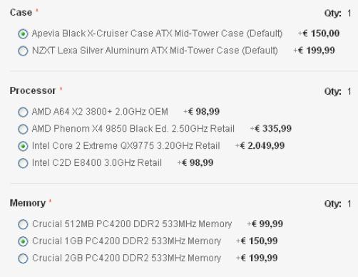 Un prodotto bundle tipico: il PC