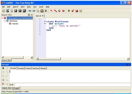 FreeRIDE, l'IDE gratuito per Ruby