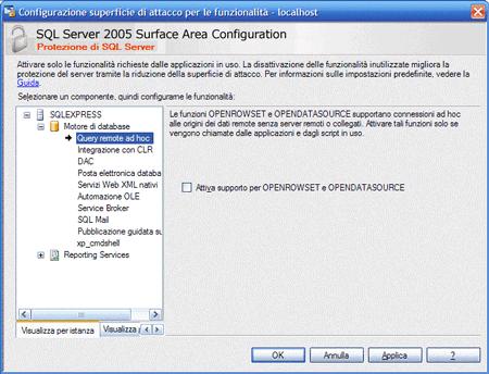 Funzionalità di Sql Server
