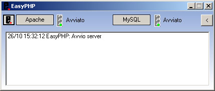 Finestra di EasyPHP