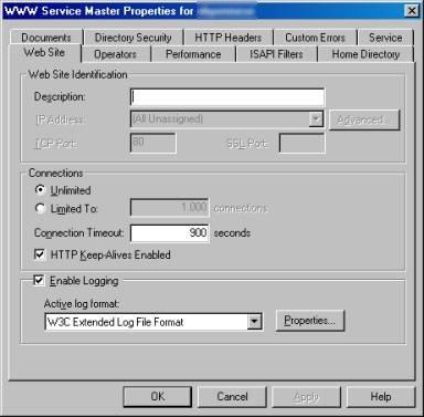 Impostazione funzionalità di log