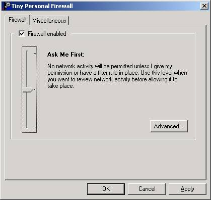 Tiny Personal Firewall