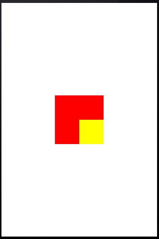 Figura 24: Posizionamento relativo di un oggetto UIView rispetto ad un altro oggetto UIView