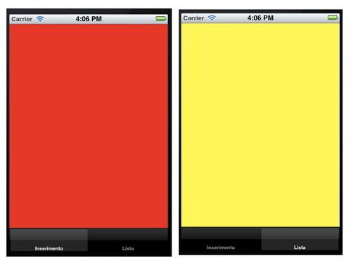 Figura 35: Schermate dell'applicazione dopo l'inserimento della tabBar