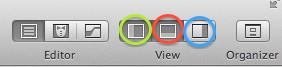 Figura 17: Xcode: Menu, Console e Interface Builder