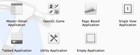 Figura 9: Scelta dei template offerti da Xcode
