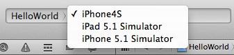 Figura 15: Xcode: Dispositivo e simulatore