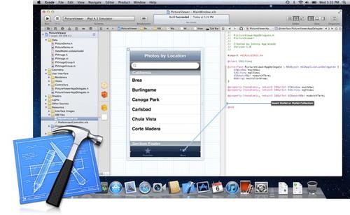 Figura 1: Panoramica sull'interfaccia dell'IDE di sviluppo Xcode