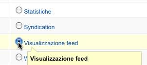 Visualizzazione feed