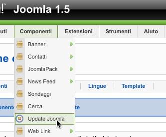 La voce Update Joomla