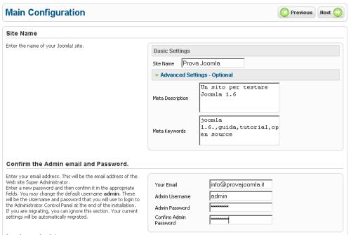 Configurazione FTP