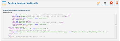 Modifica file template