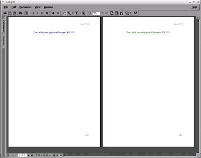 risultato della trasformazione del documento di esempio