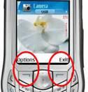 le softkeys hanno una funzione determinata dal contesto dell'interazione (Nokia 6630)
