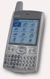 Smartphone Treo in possesso di tastiera con layout QWERTY.