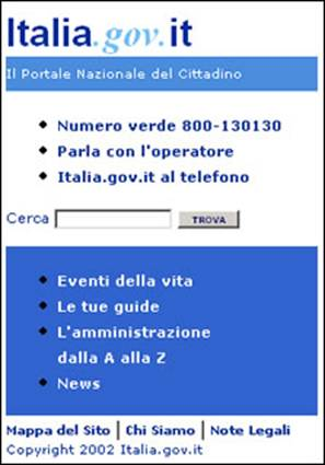 La nostra versione di Italia.gov.it per dispositivi mobili.