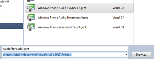 Windows Phone Audio Playback Agent