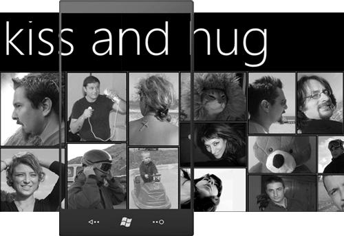 KISS AND HUG, un'app tipo Panorama