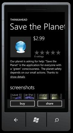 Dettagli dell'applicazione su telefono