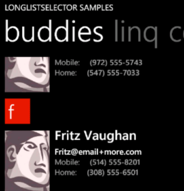 LongListSelector con raggruppamenti