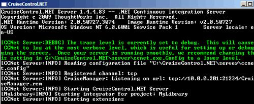 CC.net lanciato tramite console