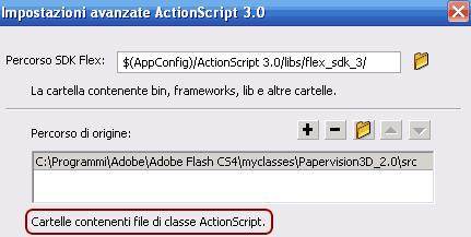 Installazione percorso actionscript