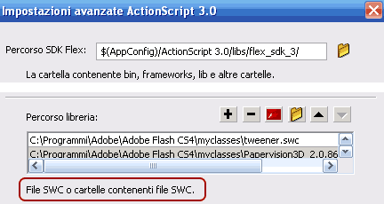 Installazione del file .swc