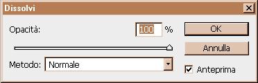 esempio regolazioni filtro