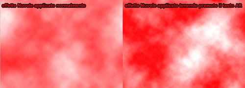 esempio effetto Nuvole