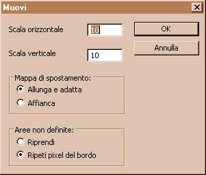 finestra di dialogo Muovi