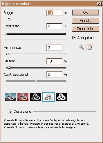 menu Migliora maschera