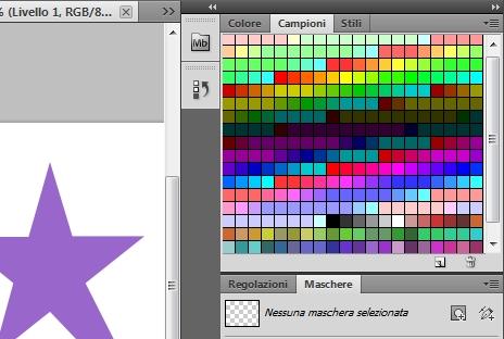 Colore campione della forma stella