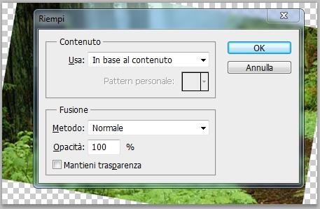 Riempimento in base al contenuto dal menu modifica