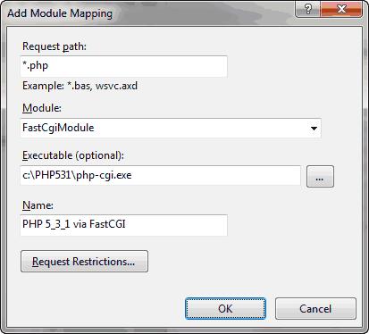 Esempio di mapping PHP-FastCGI