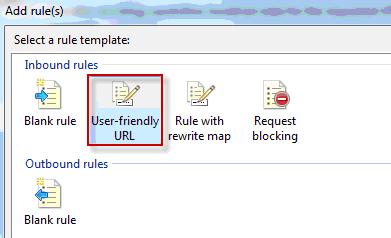 Selezione del template User-friendly URL