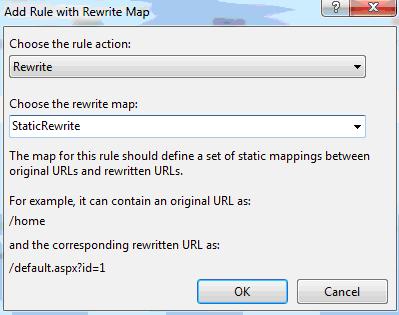 Aggiunta di una regola per una Rewrite Map