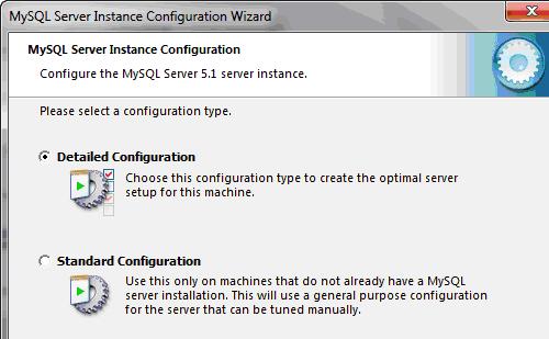 Scelta delle configurazione di dettaglio